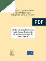 Estudio Sobre Las Limitaciones para el empoderamiento de las mujeres a nivel de microempresa
