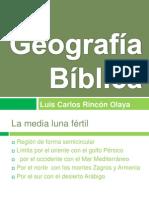 Geografia Biblica. Intro a.t.