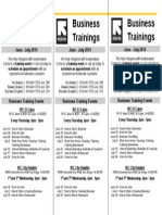 IRC Business Training Schedule - June - July 2014 (Revised)