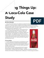 Shaking Things Up- A Coca-Cola Case Study