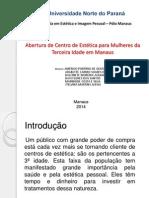 Apresentação -Estética Portifólio Grupo