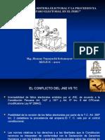 Reforma Electoral y Amparo Electoral Dr. Tupayachi[1]