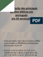 Comparação de Versões Da Biblia