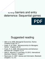 A7 Entry Barriers and Entry Deterrence - Sequential Games Analysis