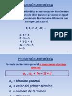 3 Progresion aritmética