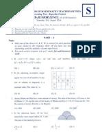NMTC Sub Junior Test Paper_2013