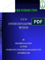 Course Introduction Construction 530f 041f