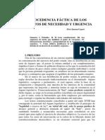 Procedencia Fáctica de Los Decretos de Necesidad y Urgencia
