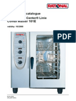 Rational combimaster plus 61 gas combi oven with manual controls.