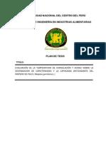 Universidad Nacional Del Centro Del Perú Facultad de Ingeniería en Industrias Alimentarias
