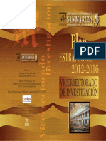 Plan Estratégico UNMSM Investigación 2012-2016