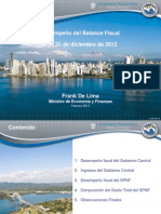 Balance Fiscal Cierre 2012