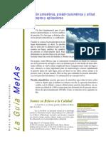 Diferencia de Presion Barometrica y Altitud
