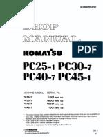 Komatsu PC45-1 Service Manual