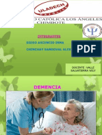 Diapositiva de Demencia y Agnosia