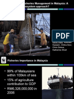 Sustainable Fisheries Management in Malaysia a Need for an Ecosystem Approach