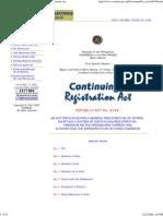 Comelec Republic Act 8189 Continuing Registration Act