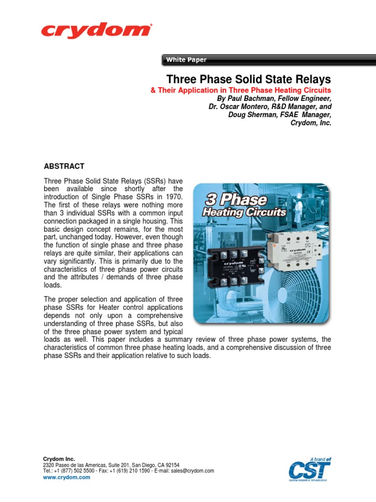 3 Phase Solidstate Relay Switch Crydom Solid State Ac