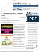 Michael Harris IU Kokomo, Summer Enrollment Record, Kokomo Perspective