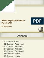 02 Java Language and OOP Part II LAB