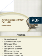 01 Java Language and OOP Part I LAB