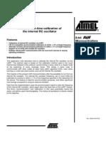 Run-time Calibration of the Internal RC Oscillator