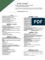 Calendario de Actividades 2012-2013
