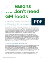 M. Antoniou Et Al. - GMO Myths & Truths (Short Report). 10 Reasons We Don't Need GM Foods.