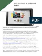Barnes & Noble se eleva en el informe de que Microsoft quiere comprar el Nook de