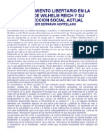 El Pensamiento Libertario de Reich y Su Proyeccion Social Ac