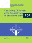 Teaching Children with Disabilities in inclusive setting