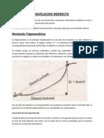 Nivelación Trigonométrica y Barométrica