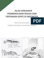 Analisa Kebijakan Pembangunan Irigasi Dan Pertanian Di Indonesia
