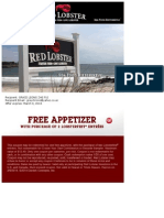 Red Lobster Free Appetizer