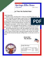Sand Springs Elks July 2014 Newsletter