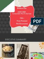 Cake in a Jar (Business Plan) Nony Dan Fifi