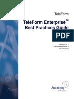 TF V10 Enterprise Best Practices