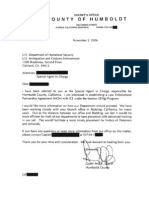 Humboldt County Sheriff's Office (California) - 287(g) FOIA Documents