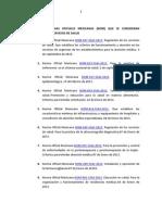 Listado Normas Oficiales Mexicanas