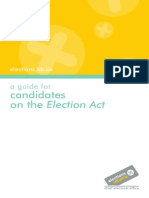 Guide for Candidates on the Election Act(1)