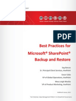 Best Practices for Backup and Restore