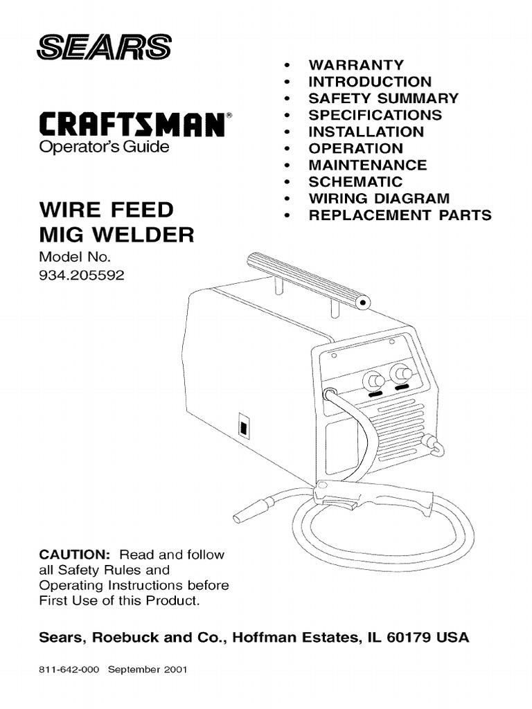 Craftsman Welder Wiring Diagram Third Level Radial Arm Saw Free Picture L0812105 Pdf Welding Valve Table
