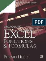 Microsoft Excel Functions Formulas