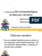 Intervención Fonoaudiológica Al Discurso Narrativo