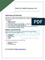 AFMC Exam Syllabus for English Language and Reasoning