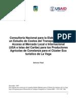 Estudio de Costos Del Transporte Aereo y Acceso Al Mercado Local e Internacional Para Los Productos Agricolas Del Cluster Turistico de La Vega