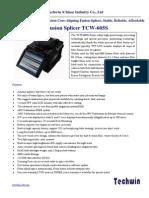 Techwin TCW 605S Datasheet
