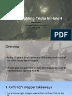 Static Lighting Tricks in Halo