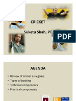 Cricket - overview with Biomechanical aspect
