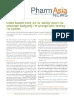 L.E.K. Tackling Chinas EDL Challenge PharmaAsia May 2013
